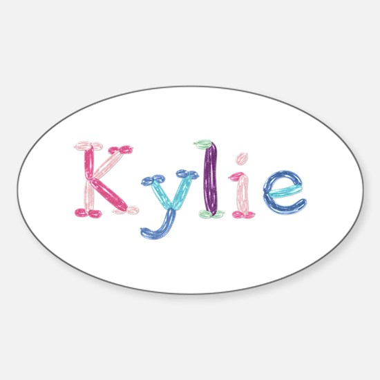 Kylie Princess Balloons Oval Decal