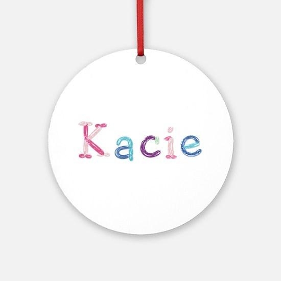 Kacie Princess Balloons Round Ornament