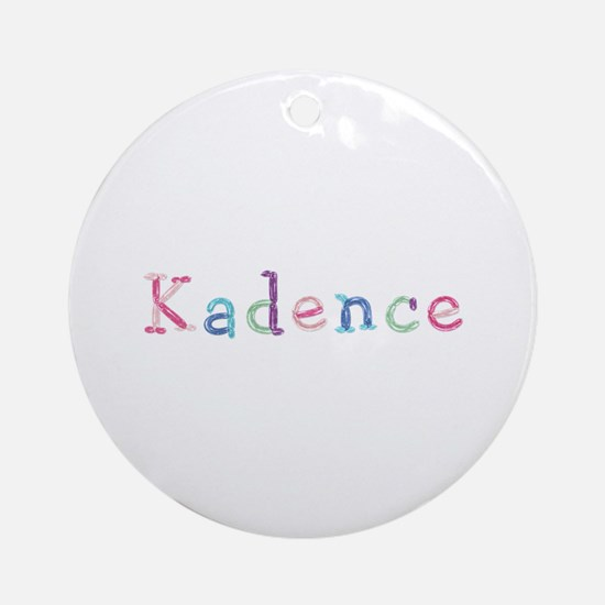 Kadence Princess Balloons Round Ornament
