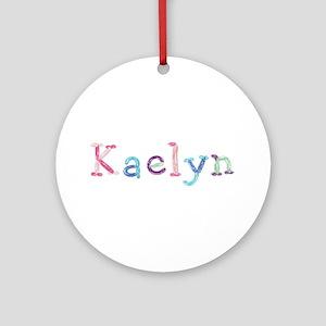 Kaelyn Princess Balloons Round Ornament