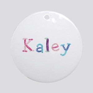 Kaley Princess Balloons Round Ornament