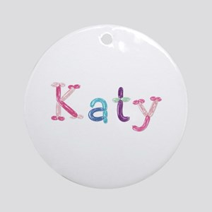 Katy Princess Balloons Round Ornament