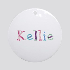 Kellie Princess Balloons Round Ornament