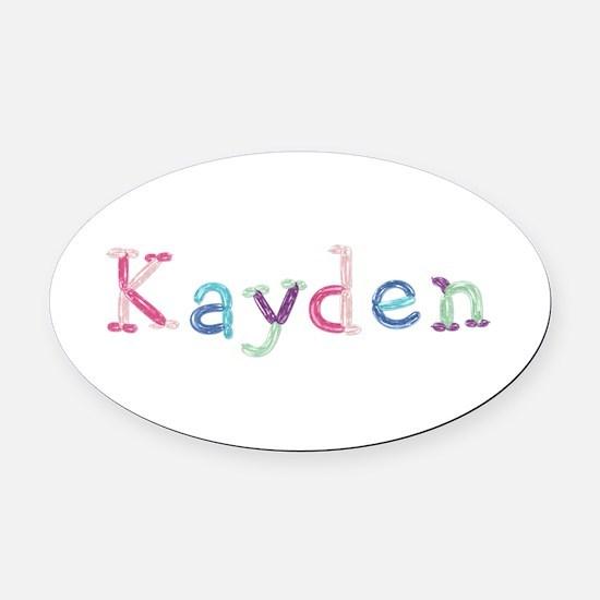Kayden Princess Balloons Oval Car Magnet