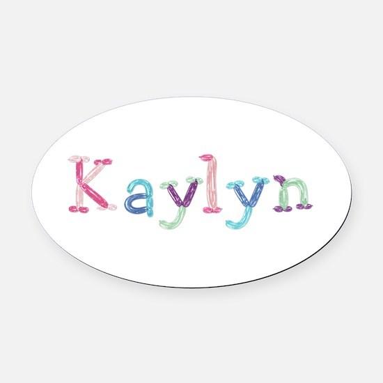 Kaylyn Princess Balloons Oval Car Magnet