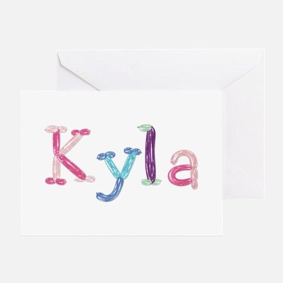 Kyla Princess Balloons Greeting Card