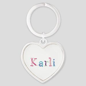 Karli Princess Balloons Heart Keychain