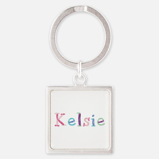 Kelsie Princess Balloons Square Keychain