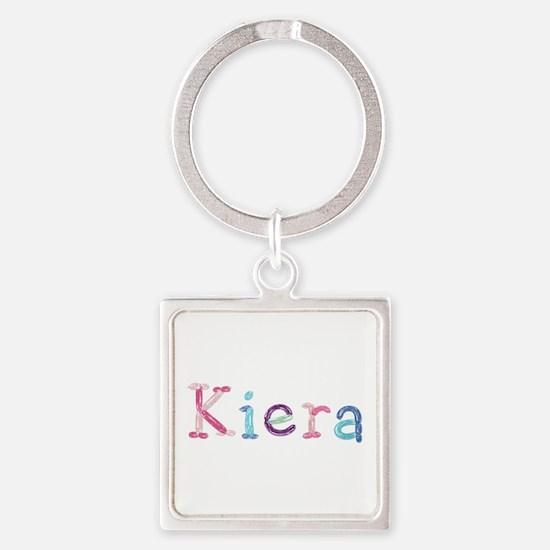 Kiera Princess Balloons Square Keychain