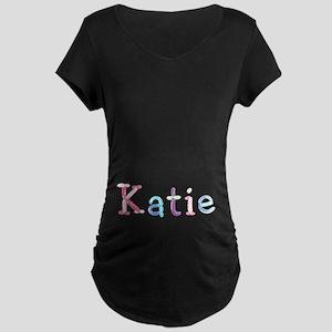 Katie Princess Balloons Maternity Dark T-Shirt