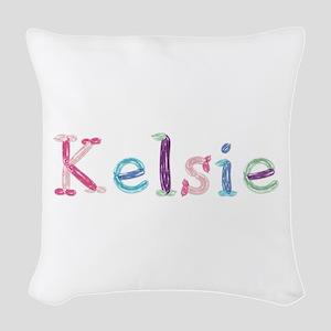 Kelsie Princess Balloons Woven Throw Pillow