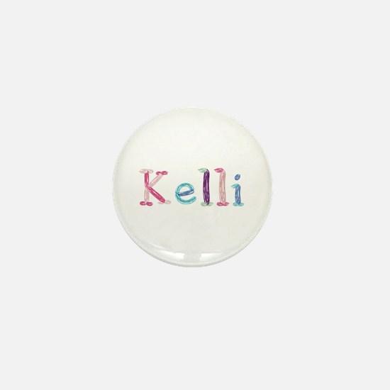 Kelli Princess Balloons Mini Button