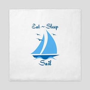 Eat Sleep Sail Queen Duvet