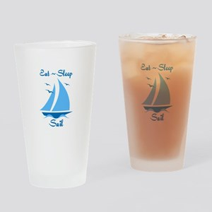 Eat Sleep Sail Drinking Glass