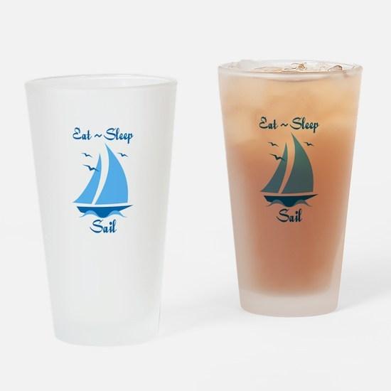 Eat Sleep Sail Drinking Glass