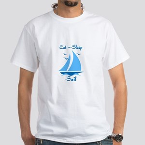 Eat Sleep Sail White T-Shirt