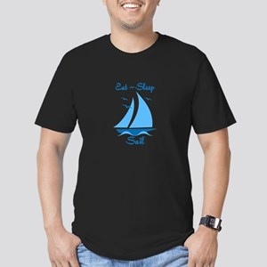 Eat Sleep Sail Men's Fitted T-Shirt (dark)