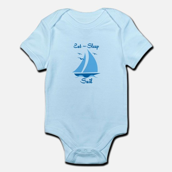 Eat Sleep Sail Infant Bodysuit