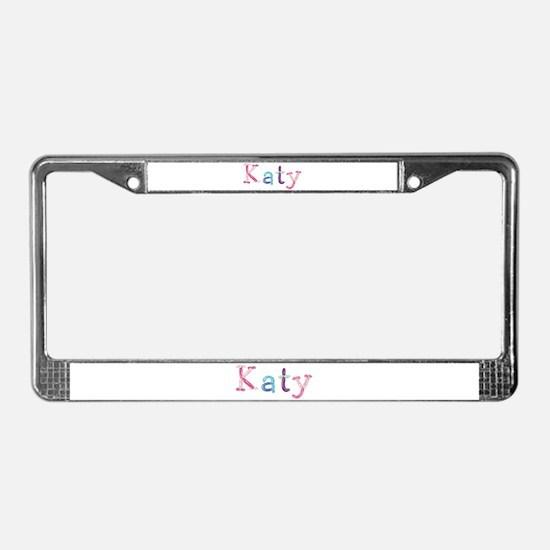 Katy Princess Balloons License Plate Frame