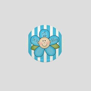 It's a Boy Baby flower Mini Button
