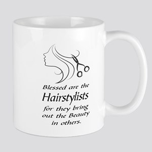 BLESSED ARE THE HAIRSTYLISTS Mugs