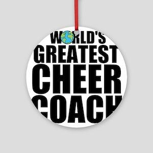 World's Greatest Cheer Coach Round Ornament