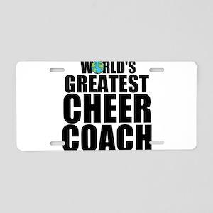 World's Greatest Cheer Coach Aluminum License