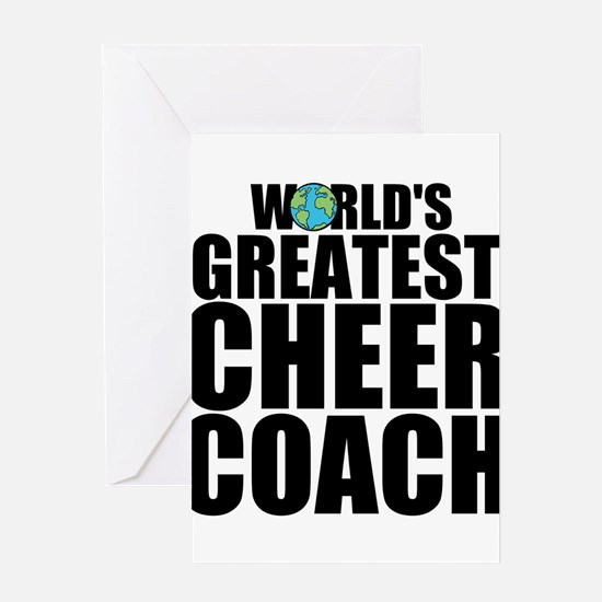 World's Greatest Cheer Coach Greeting Cards