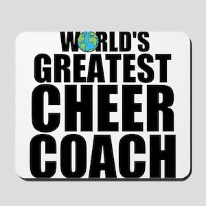 World's Greatest Cheer Coach Mousepad