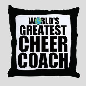 World's Greatest Cheer Coach Throw Pillow