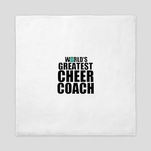 World's Greatest Cheer Coach Queen Duvet