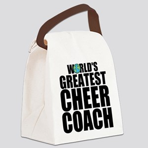 World's Greatest Cheer Coach Canvas Lunch Bag