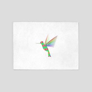 Rainbow Hummingbird 5'x7'Area Rug