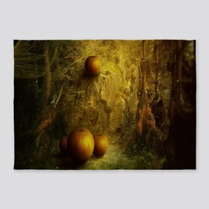 Fantasy Pumpkin Patch 5'x7'Area Rug