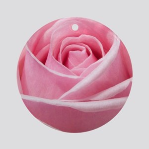 Light Pink Rose Close Up Ornament (Round)