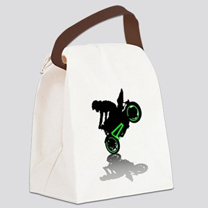 Motorcyclist Canvas Lunch Bag