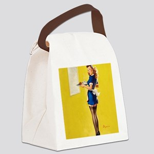 Lunch time ! Canvas Lunch Bag