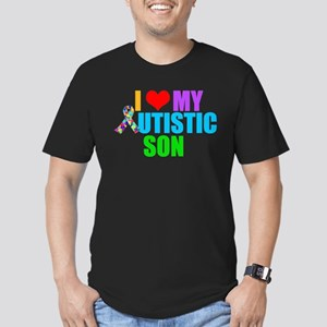 Autistic Son Men's Fitted T-Shirt (dark)