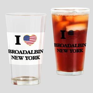 I love Broadalbin New York Drinking Glass