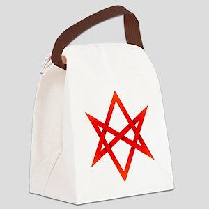 Unicursal hexagram Canvas Lunch Bag