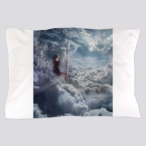 Aerialist Sitting in Clouds Pillow Case