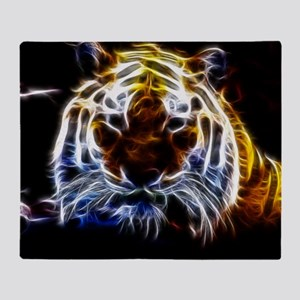Abstract Tiger Throw Blanket