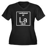 57. Lanthanu Women's Plus Size V-Neck Dark T-Shirt