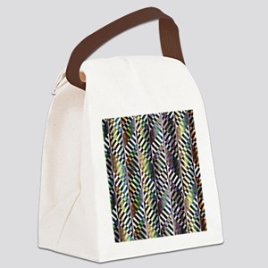 Rainbow Zebra Chevron Canvas Lunch Bag