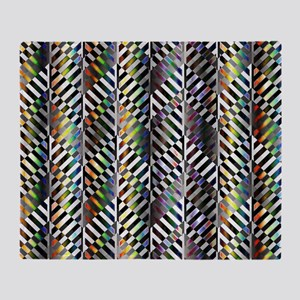 Rainbow Zebra Chevron Throw Blanket