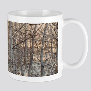 Leafless Forest at Sunset Mug