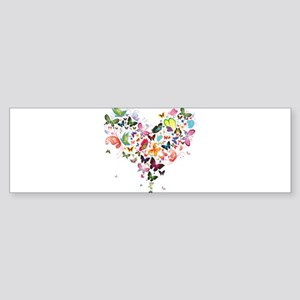 Heart of Butterflies Bumper Sticker