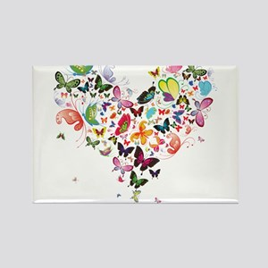 Heart of Butterflies Magnets