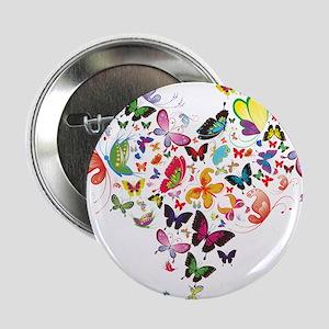 """Heart of Butterflies 2.25"""" Button (10 pack)"""