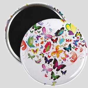 Heart of Butterflies Magnets